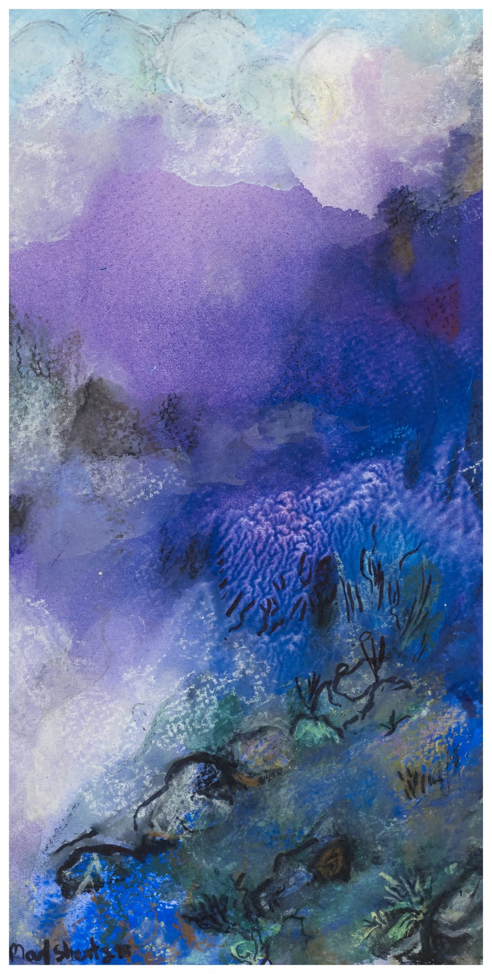 The Rising Of The Mist 1998 11x6 Mixed Medium