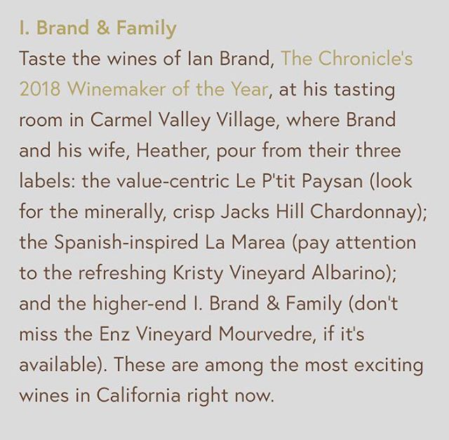 We're so honored to be included in the wine bucket list by @thepressca! Check out this fantastic selection of wineries to visit in 2019! . . . . #thepressca #sfchronicle #wineries #wineryvisit #bucketlist #winetasting #winetasting🍷 #winerytour #winerylovers #winerylife #wine #winewinewine #winenight #wineglass #california #centralcoast #carmelwine #montereybayarea #montereybaywine