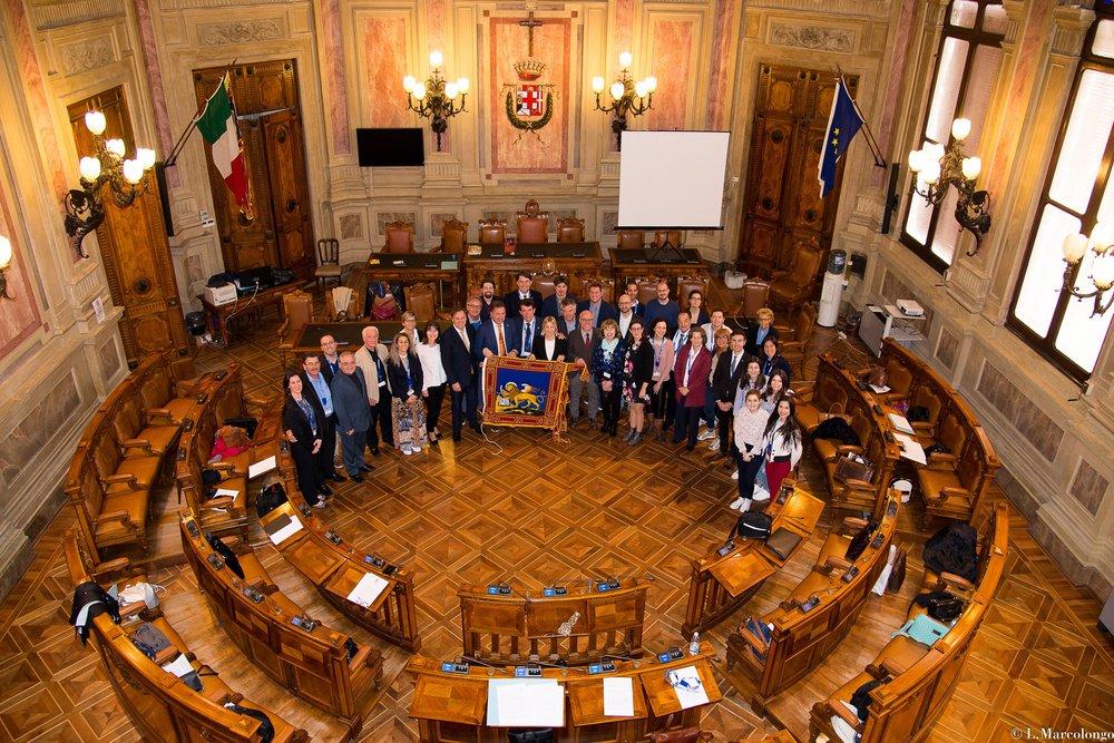 Gruppo presso Palazzo Santo Stefano
