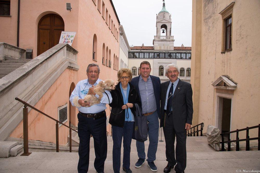 Davide Gottardello con i Rappresentanti della sede centrale dei Padovani nel Mondo