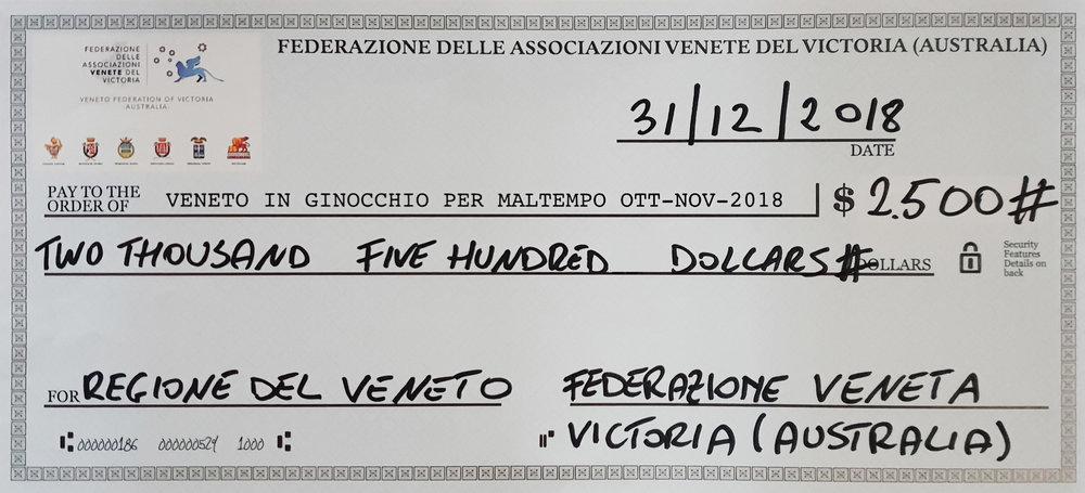 assegno simbolico beneficenza per Veneto in Ginocchio da FAV Victoria per foto di gruppo.jpg