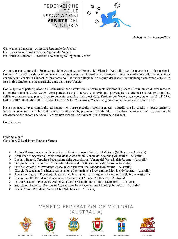 Comunicato Federazione delle Associazioni Venete del Victoria - Raccolta fondi Veneto in Ginocchio (per Veneto Club).jpg