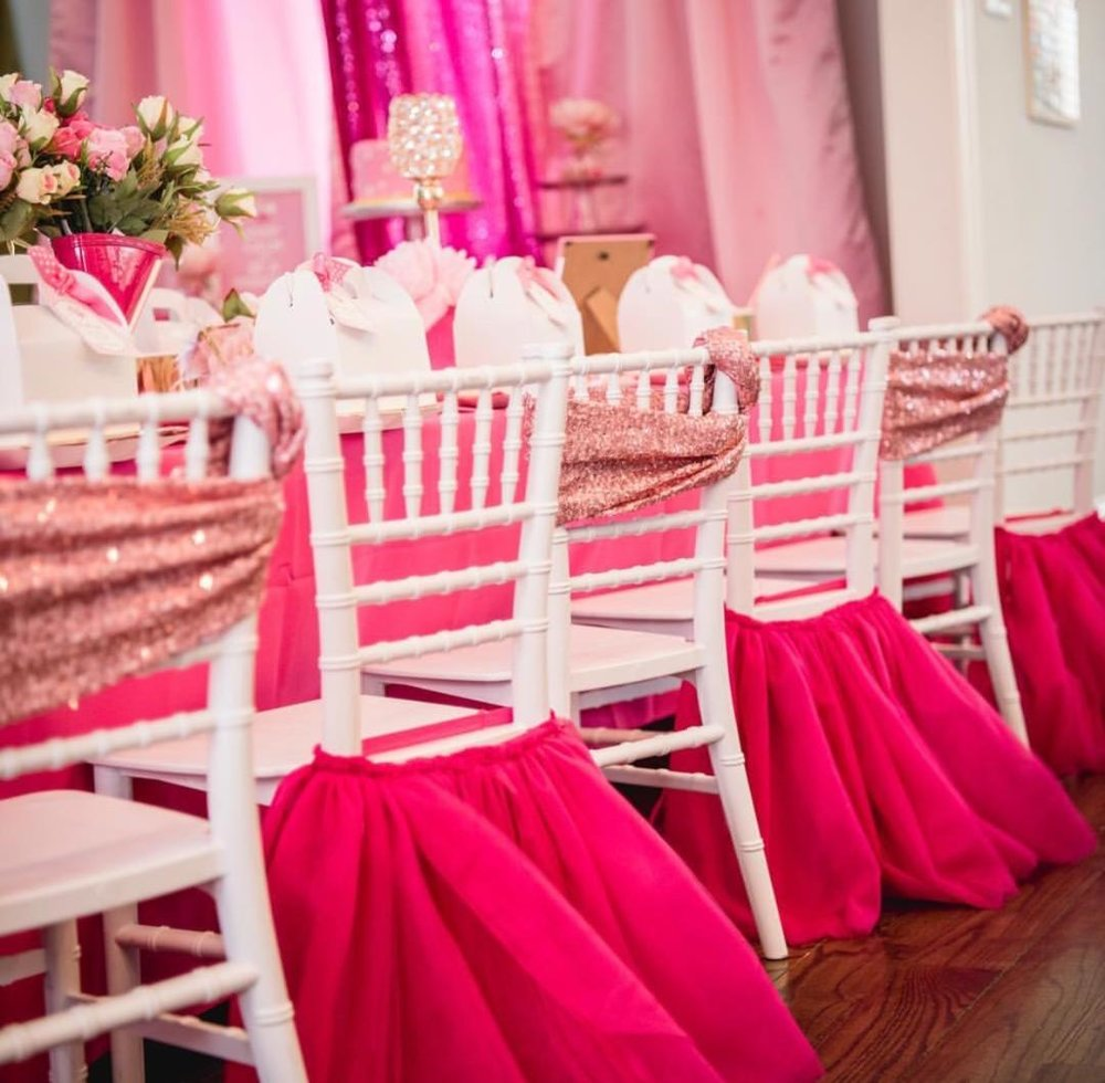 """""""Pop Up"""" Turnkey Parties- $$    Provide us with your party theme and colors and we'll """"pop up"""", set up your themed tablescape, cake table, backdrop, and more!"""