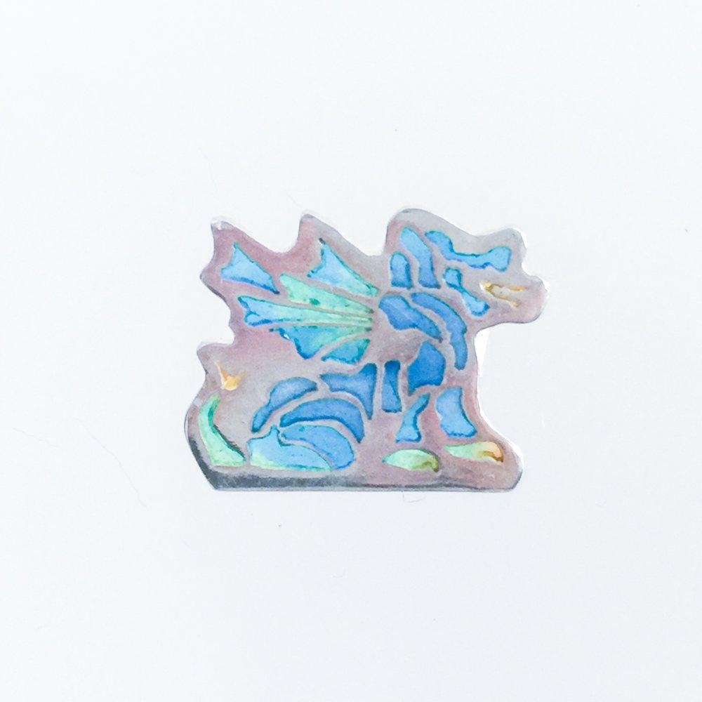 Small Sitting Dragon - Blues