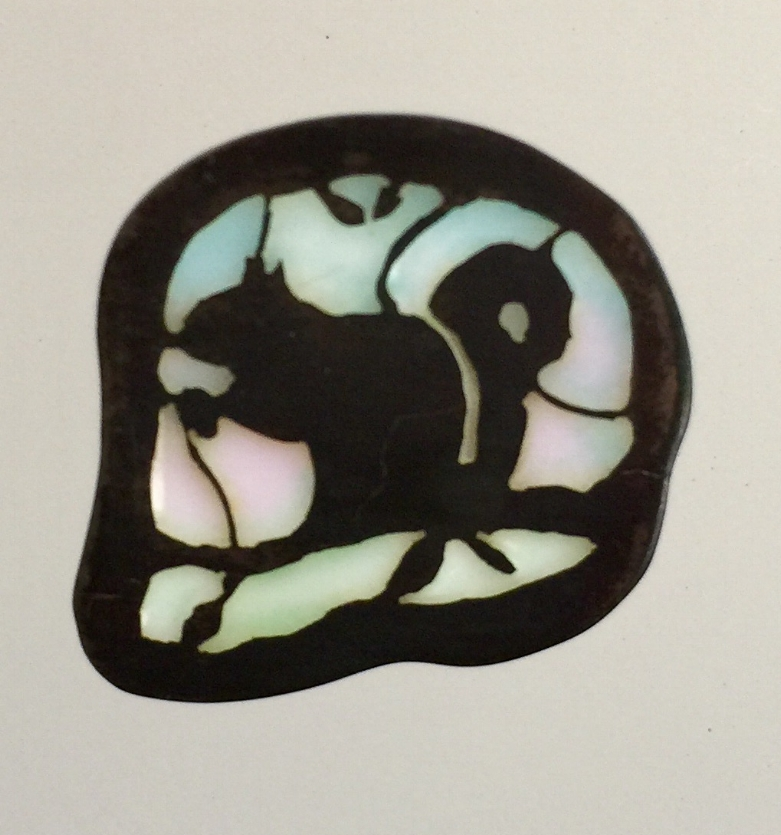 Sitting Squirrel with Acorn Silhouette - SOLD