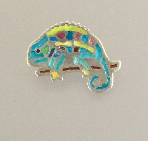 Aqua Chameleon with Yellow Ridge