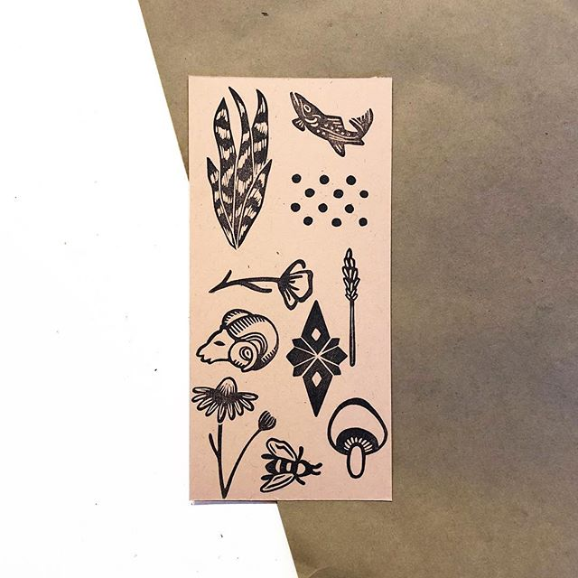 I'm @moxiebreadco doing my taxes today. Blah. Ya know? In other (better) news, here are a few new stamp designs that'll be joining my #etsyshop collection soon.