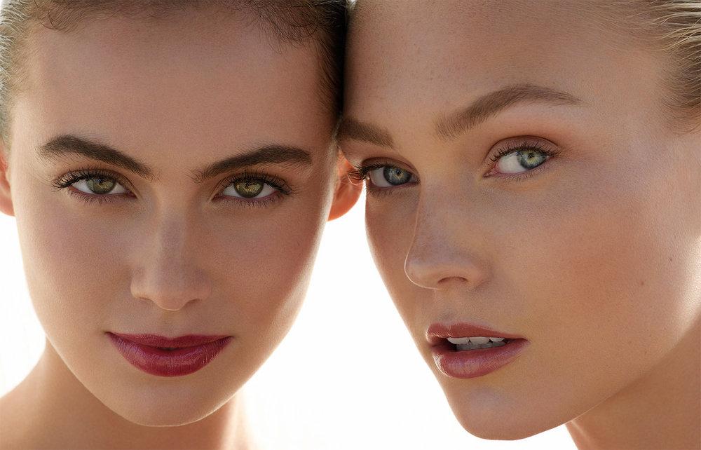 Sera Mann & Kirra Jones in Laugh Kiss Care beauty campaign
