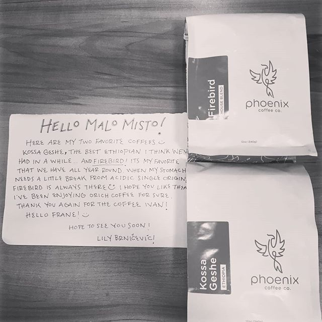 This is a reason why you should love coffee, all of you. From America to Croatia! Thank you once again @cholalily , we just recived your box. We cant wait to taste your @phoenixcoffeeco coffeeee, and ofc see you guys again, hope to next summer!! ☕😍 #baristalife #roastingcoffee #cuppingcoffee