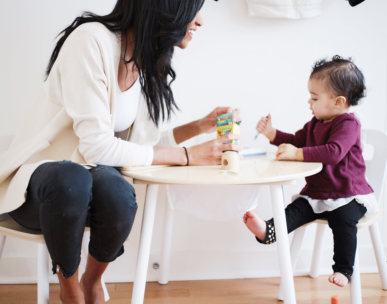 arya's room tour, the mom life nursery, toddler room ideas, grey neutral nursery