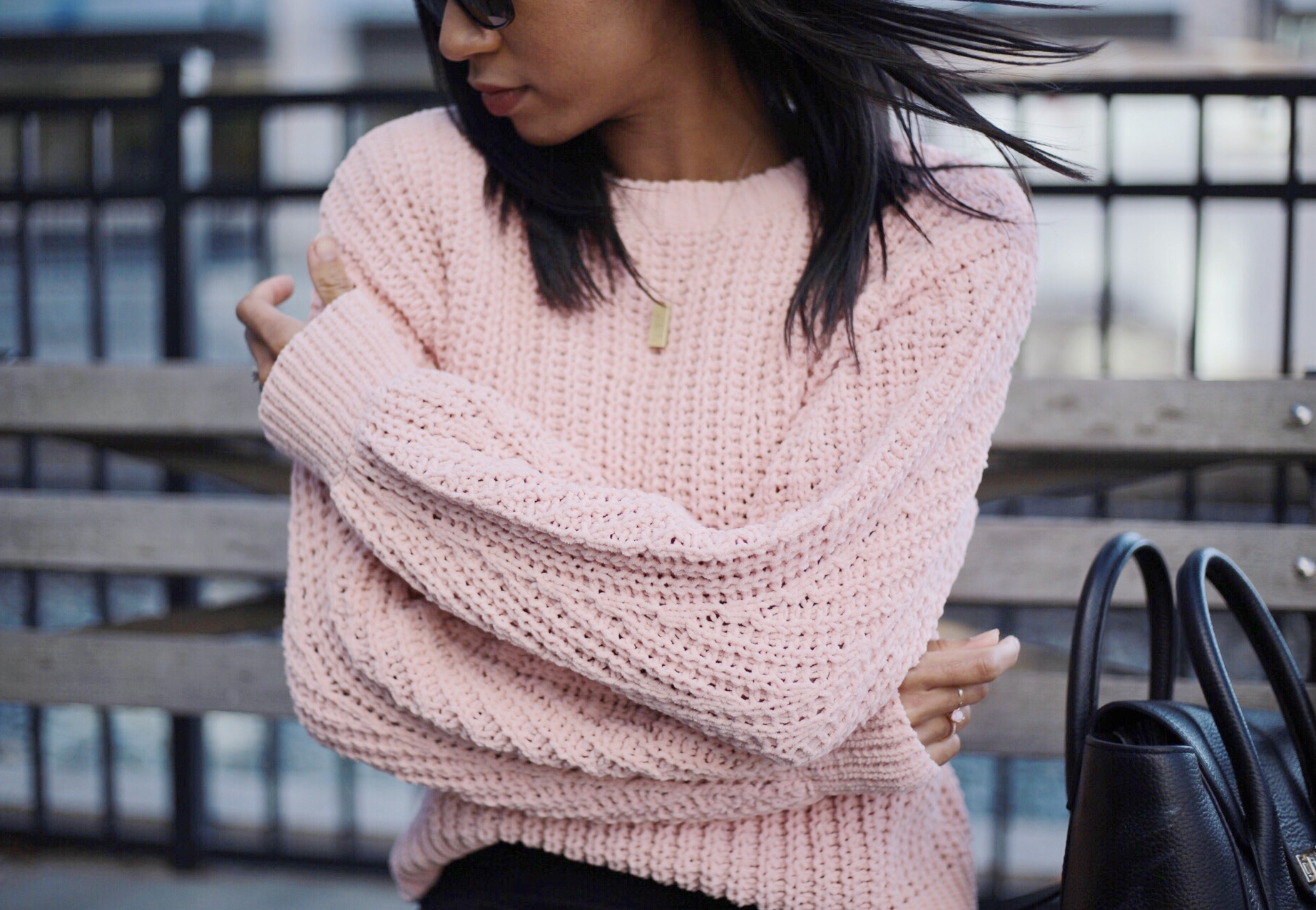 fall sweaters, pink sweater, loose knit sweater, h&m sweaters, fall outfits, pink outfits