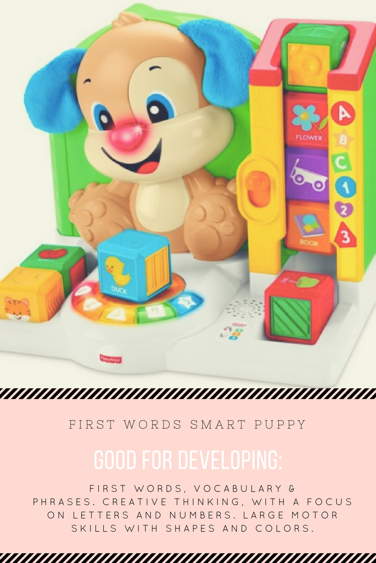 fisher price smart puppy, toddler learning toys, holiday toy list