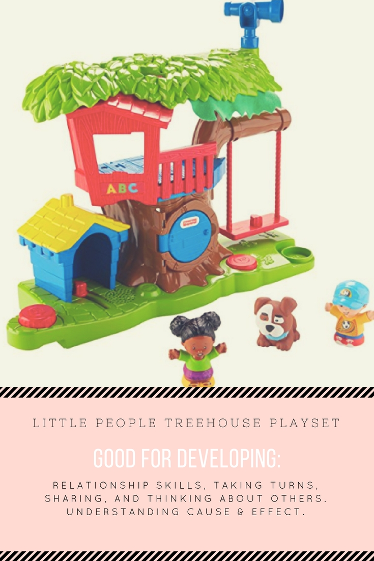 little people treehouse playset, toddler learning toys, holiday toy list