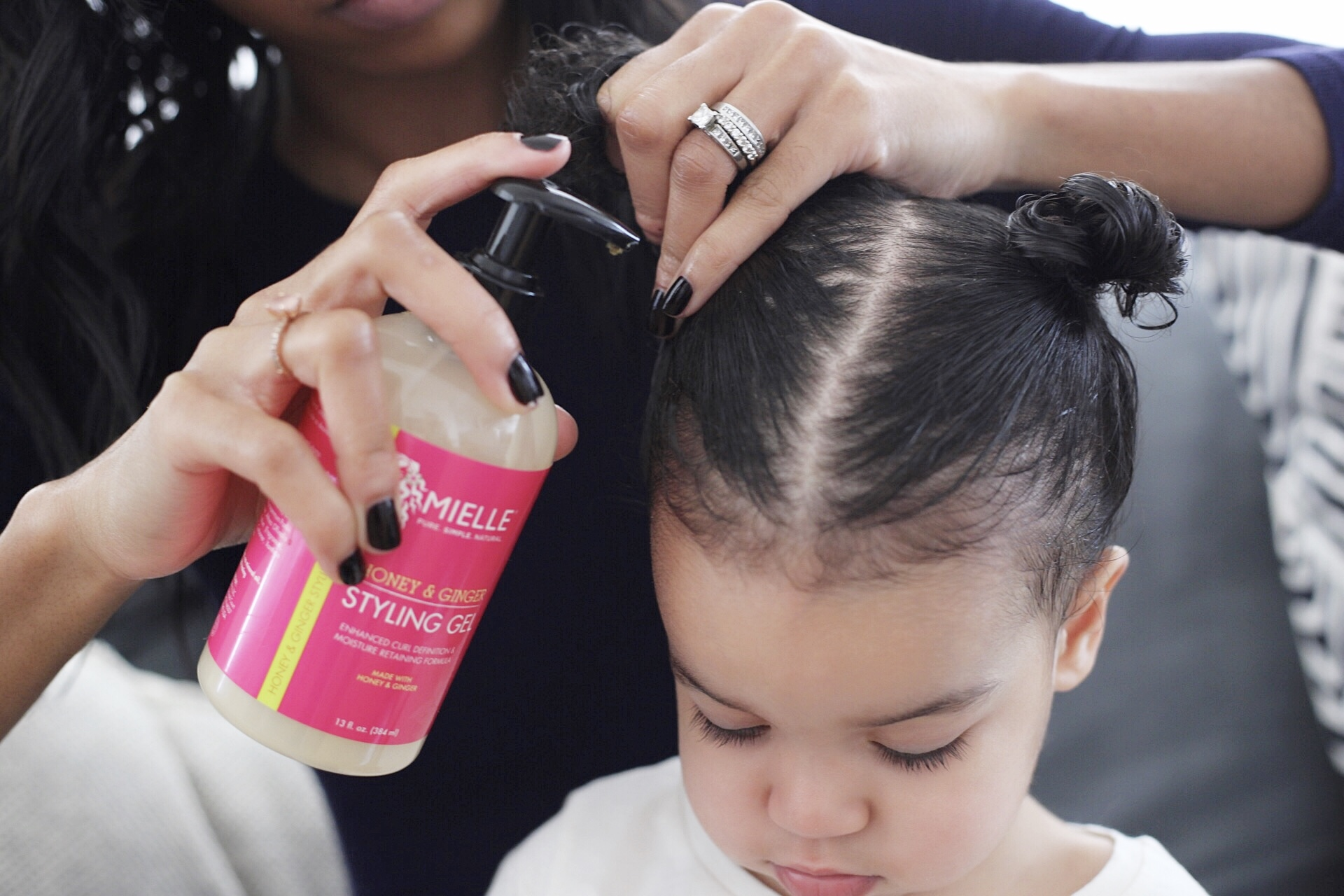 curly hair, toddler hair products, toddler hair styling, mielle organics, coconut oil for hair, toddler hair care, toddler hair