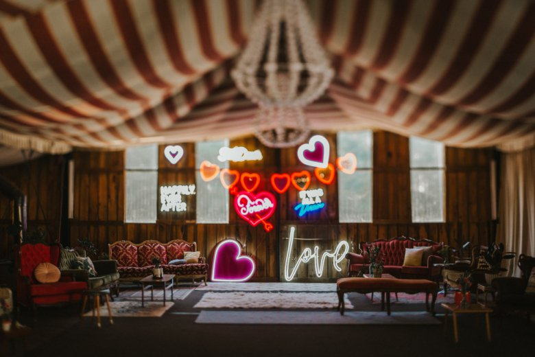 Good Day Rentals      Wedding design & styling. Retro furniture & neon hire