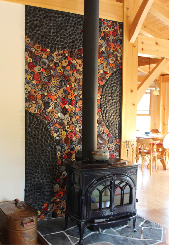 Gunflint Wood Stove Back Wall