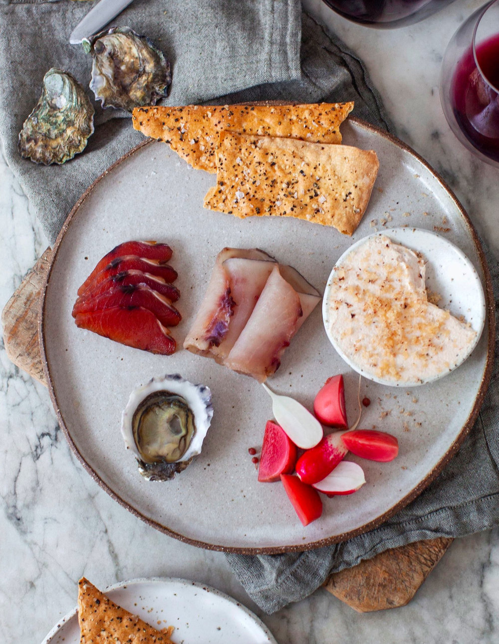 CONDE NAST TRAVELLER JAN/FEB 2019 - This stunning photo by Alice Wesley Smith and Amanda Chebatte shot at the Fish Butchery in Sydney featuring ceramics by me appeared in the Conde Nast Traveller GOLD LIST 2019 issue. How gorgeous is it?