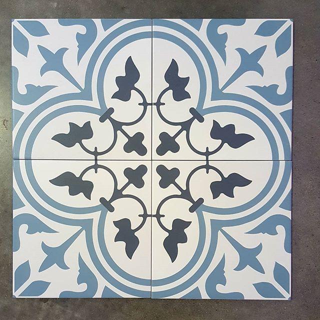 Encaustic floor tiles in 200x200 set of four available through @qmi_tile_and_stone  #floortilesdesign #encaustic #bathroominspo #bathroom #kitchensplashback #laundryroom #swbuilding #buildingidea #dunsborough