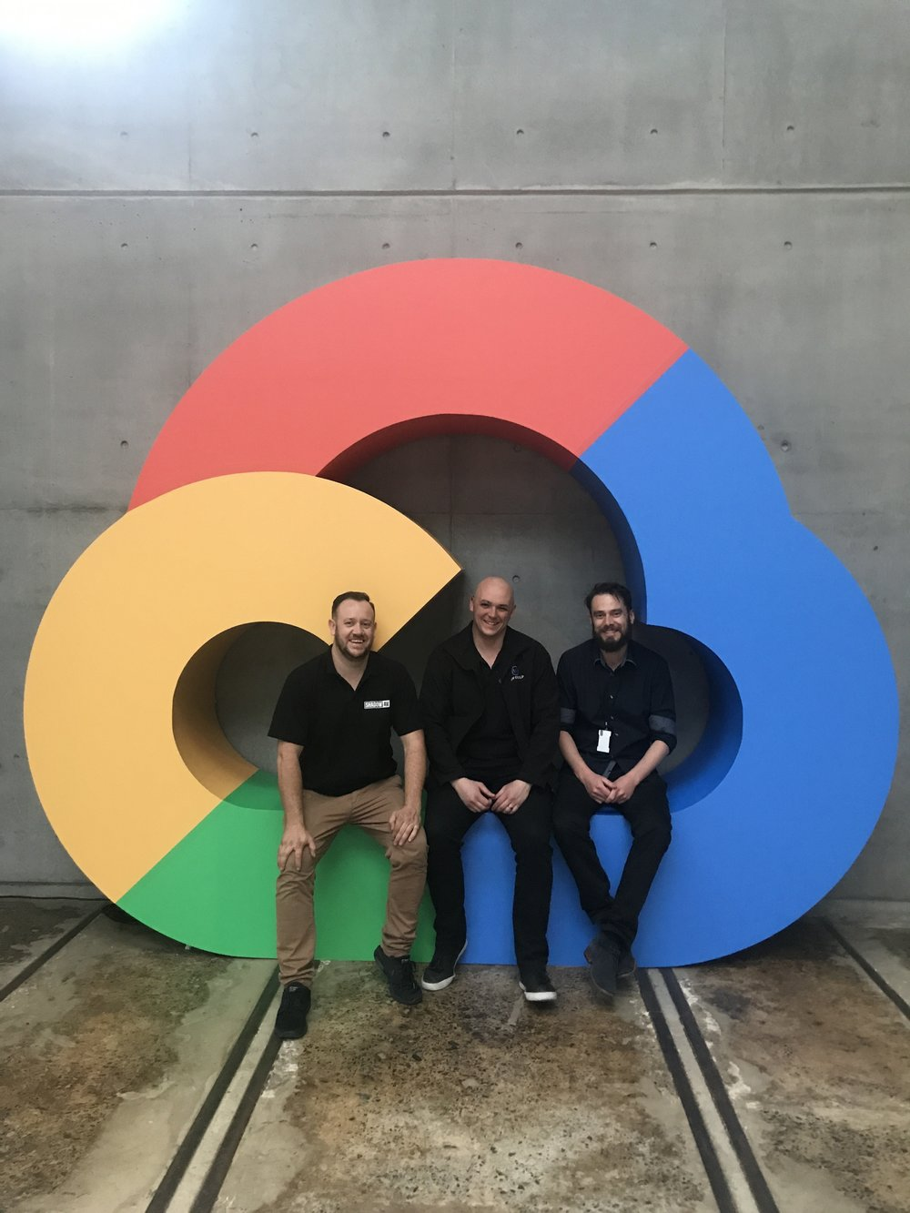 The boys from ShadowAV and Norwest chilling in the Google Cloud