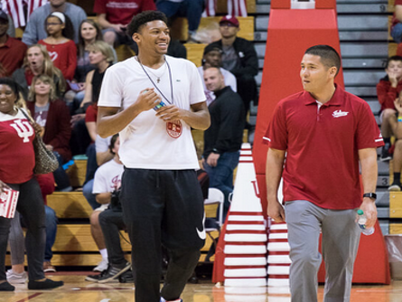 Jerome Hunter didn't like the response from the crowd at Hoosier Hysteria...He loved it!