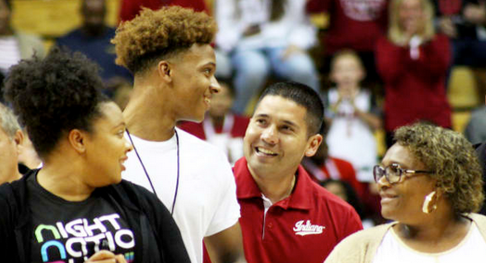 "Romeo Langford:  ""Is this Heaven, Tom?""  Tom Ostrom:  ""Yes it is, Romeo.  Yes it is.""  Romeo Langford:  ""Sweet!""   NOTE:  This isn't the actual conversation.  At least, not that I am aware of. It is meant to be humorous."