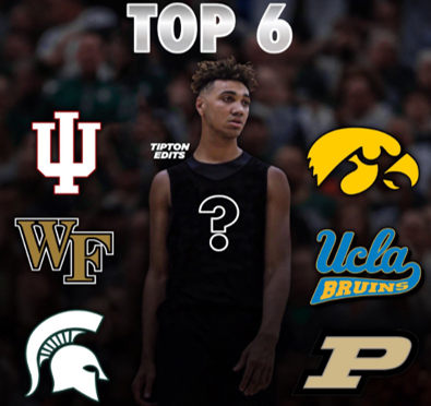 Trayce Jackson-Davis lists Indiana, Wake Forest, Michigan State, Iowa, UCLA, and Purdue in his TOP 6.