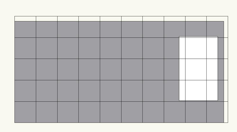 Grid on wall