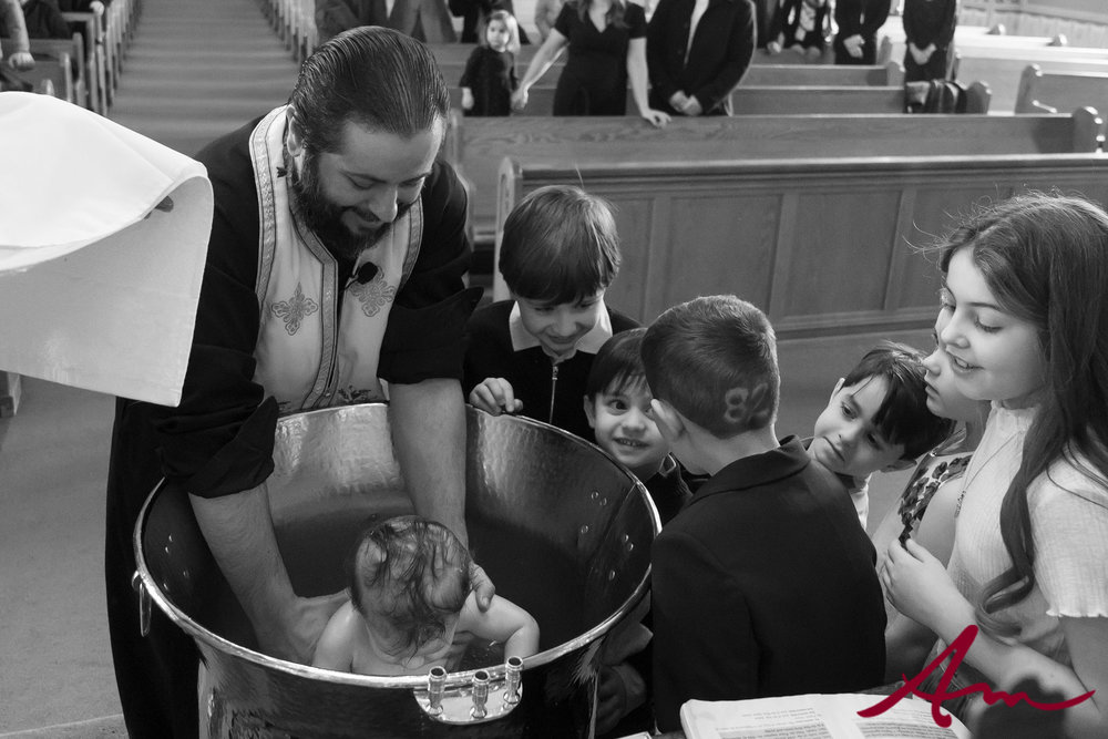 Love how Father Peter not only allows but encourages children to be a part of the service.