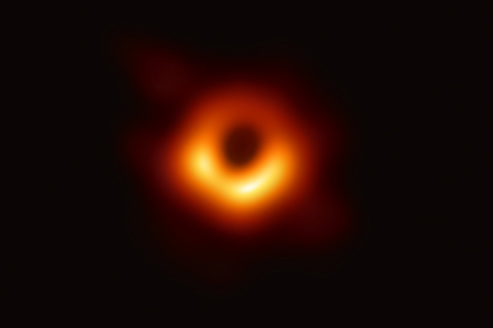 The first image of a black hole, from the galaxy Messier 87. Credit: Event Horizon Telescope Collaboration, via National Science Foundation