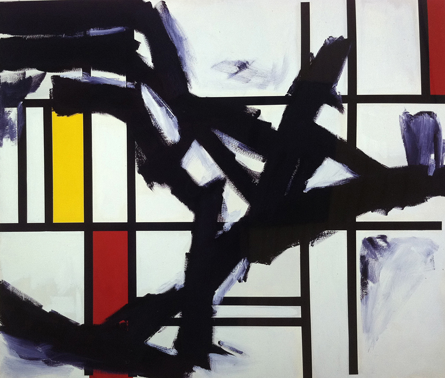 "I Flew My Plane Into Heaven AKA Kline and Mondrian, 66"" x 78"", 1"