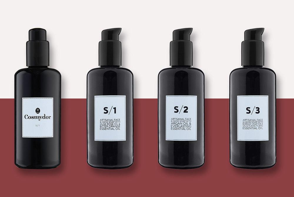 Cosmydor's Highly Concentrated Organic Precious Liquid Soaps