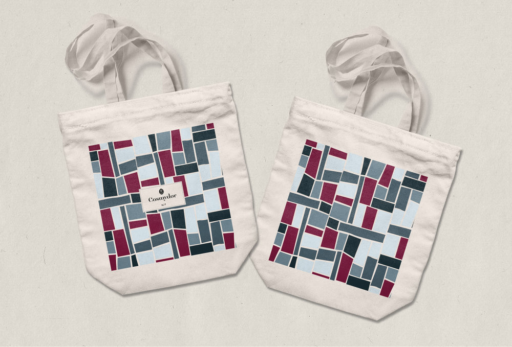 Cosmydor Design Ethical Organic Recyclable Sustainable Cotton Tote Bags