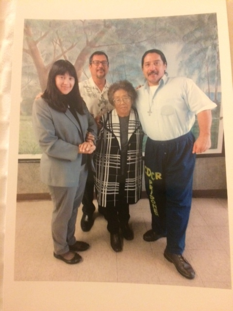 Malcolm Hanson with his sister Anastasia, brother Mark, and mom, Priscilla.