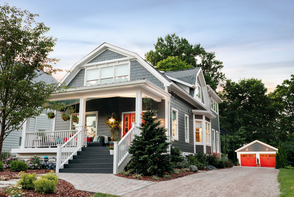 The HGTV Urban Oasis home is a show stopper and its Cincinnati red curb appeal makes it a traffic stopper too. -