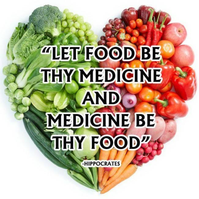 """Let food be thy medicine and medicine be thy food."""