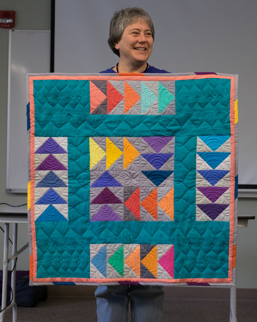 Lil's Teal Square Quilt