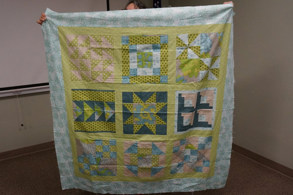 - Karen started her first quilt about 14 years ago and only completed the top. She still may finish it…someday!