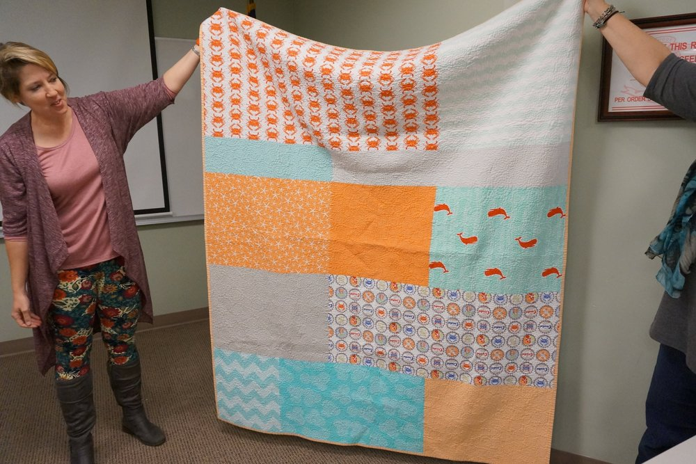 - Christine started quilting in 2012 and made her first quilt while she waited to adopt her second son.