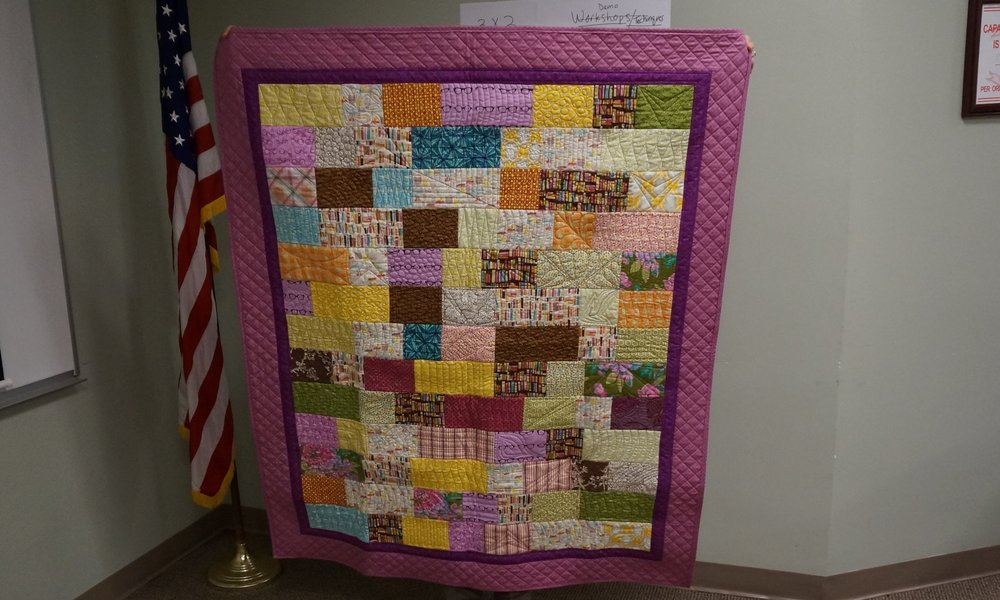 Karen made this as a reading quilt for her niece. (Cluck Cluck Sew pattern)