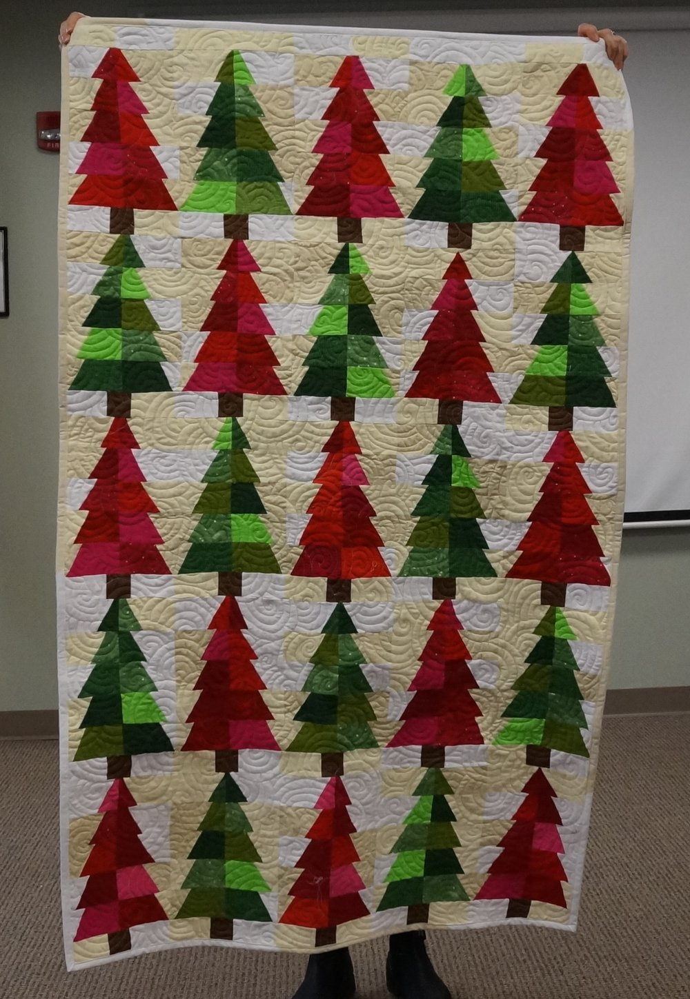 Ann made a quilt with UFO blocks she bought from the guild's dollar table a few month's ago.