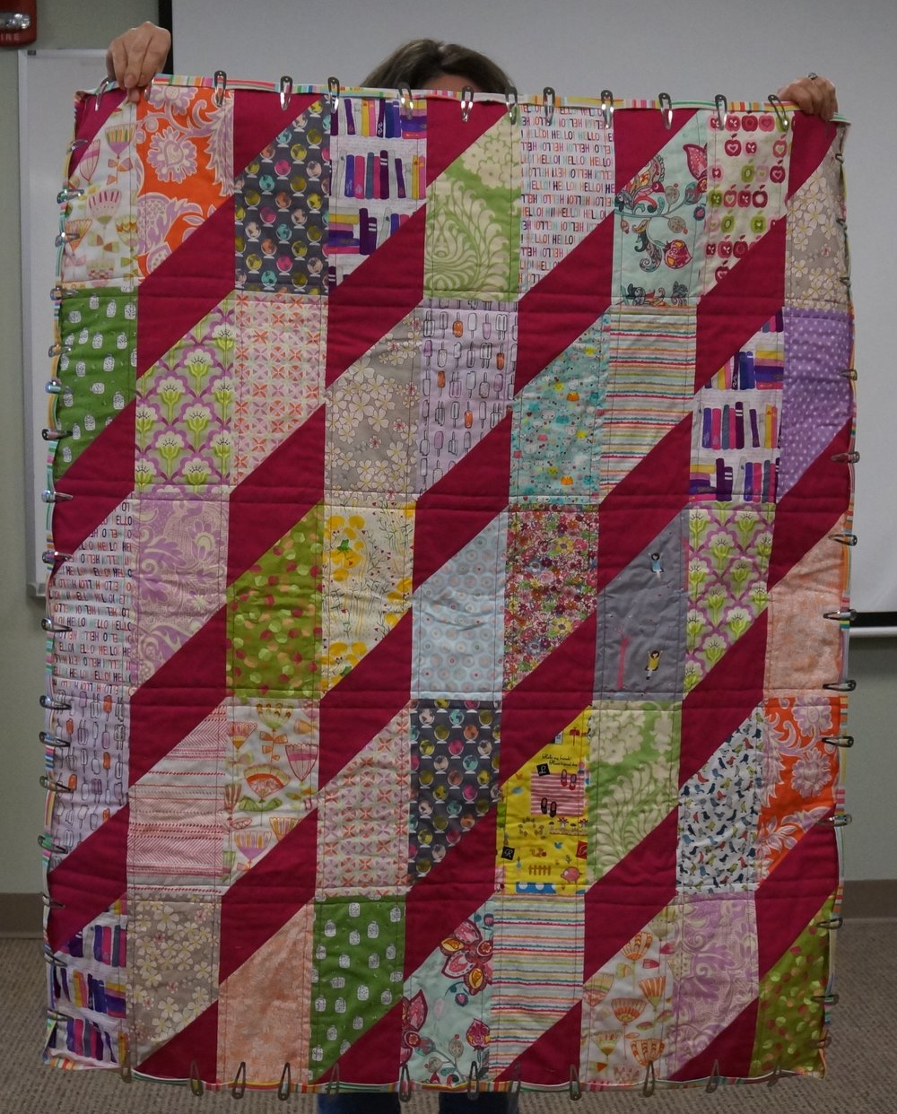 Karen (almost!) finished this quilt for a friend's daughter.
