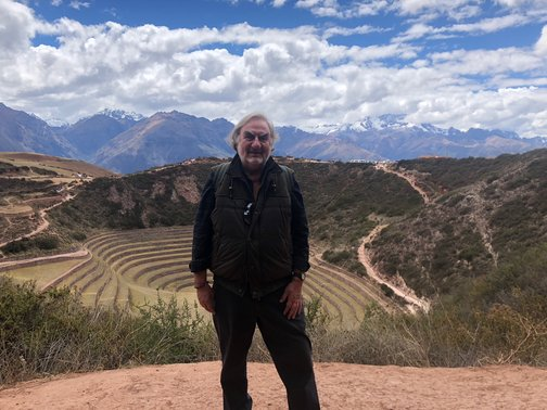 Ralph at Moray, the terraced Inca ruins we visited during the Pre-Conference Journey in the Sacred Valley