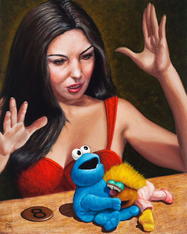 """Cookie Craving""   30"" x 24""  oil on canvas"