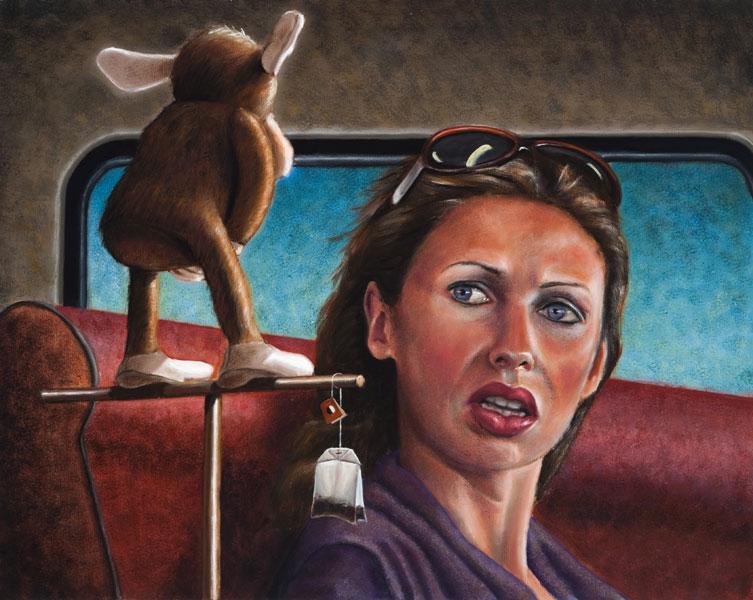 """Monkey Mind""   24"" x  30""   oil on canvas"