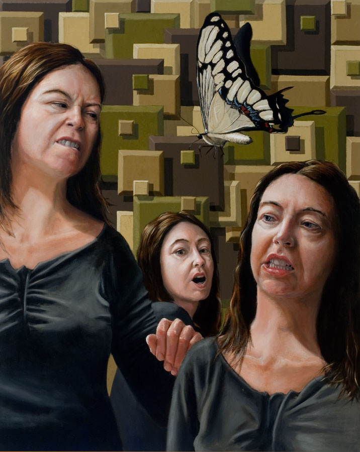 """Rumination""   48"" x  60""   oil on canvas"