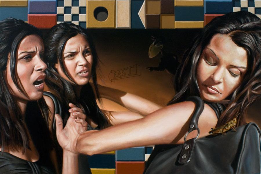 """""""Heedless""""    48"""" x 72""""  oil on canvas"""
