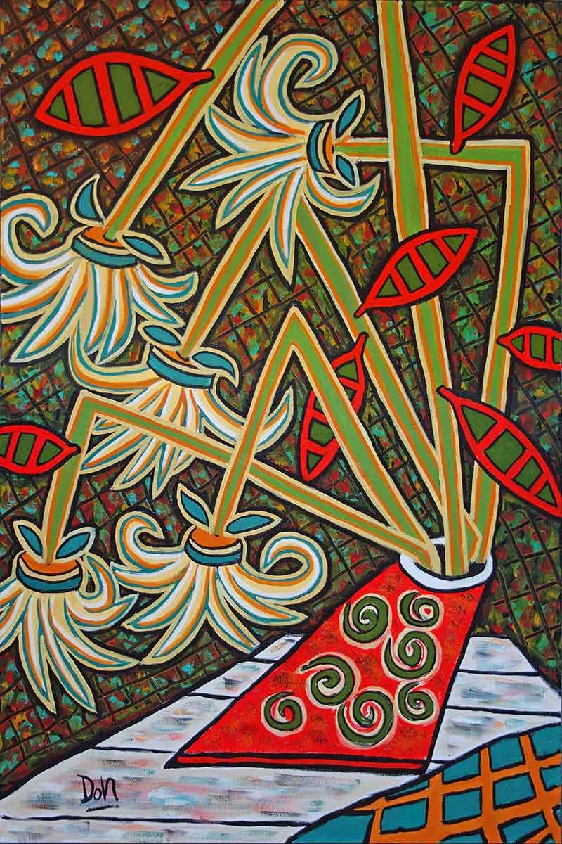 """""""Leaning Vase""""  36""""  x24""""  acrylic on canvas"""