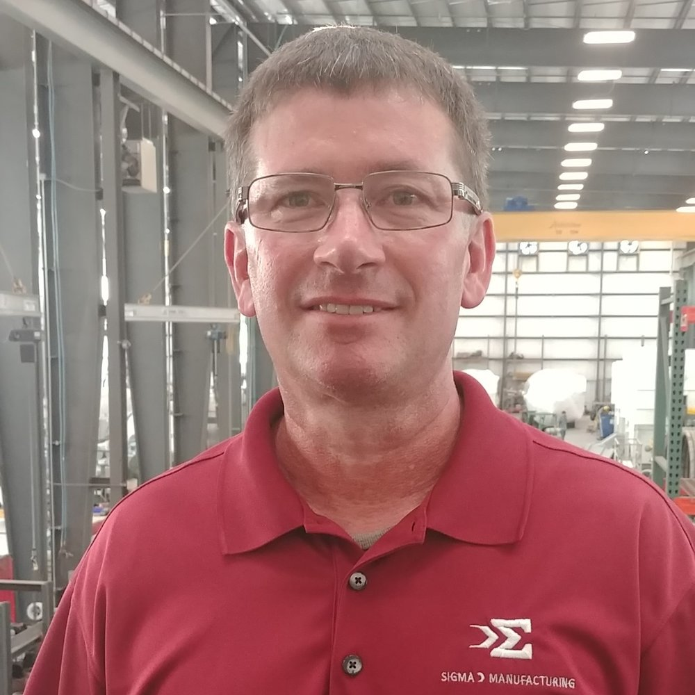 Tony Driskill, Director, General Manager.  Tony has over 30 years experience in manufacturing and metal fabrication with a work history that includes construction, railroad, industrial equipment, boilers, pressure vessels and process piping. Tony has been with Sigma Manufacturing LLC since 2011.