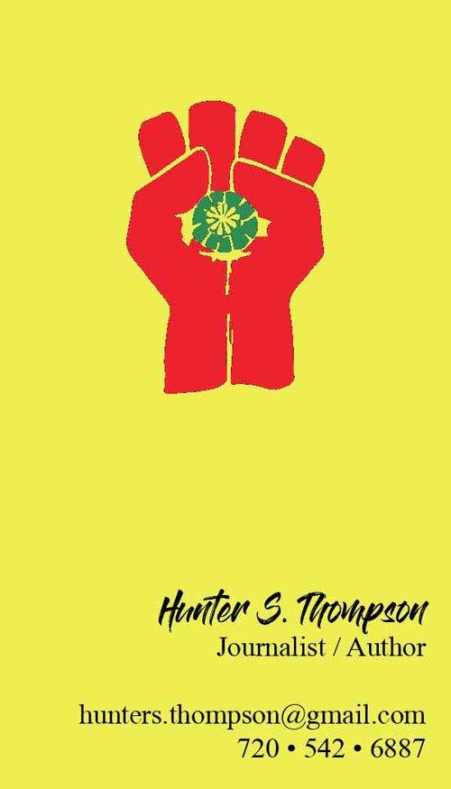 Hunter Thompson Business Card Dannel