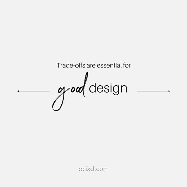 No design is perfect and you can't design something that pleases everybody. Trade offs have to be made.  #design #ux #uxdesign #interactiondesign #exlore #exploration #ixd #designer #designlife #creativity #creative #creatives #design101 #pcixd #tradeoffs #gooddesign #perfectdesign #noperfectdesign #designtradeoffs #ordinaryvsextraordinary #normalvsunique #unique #process #designprocess #userexperience #userexperiencedesign